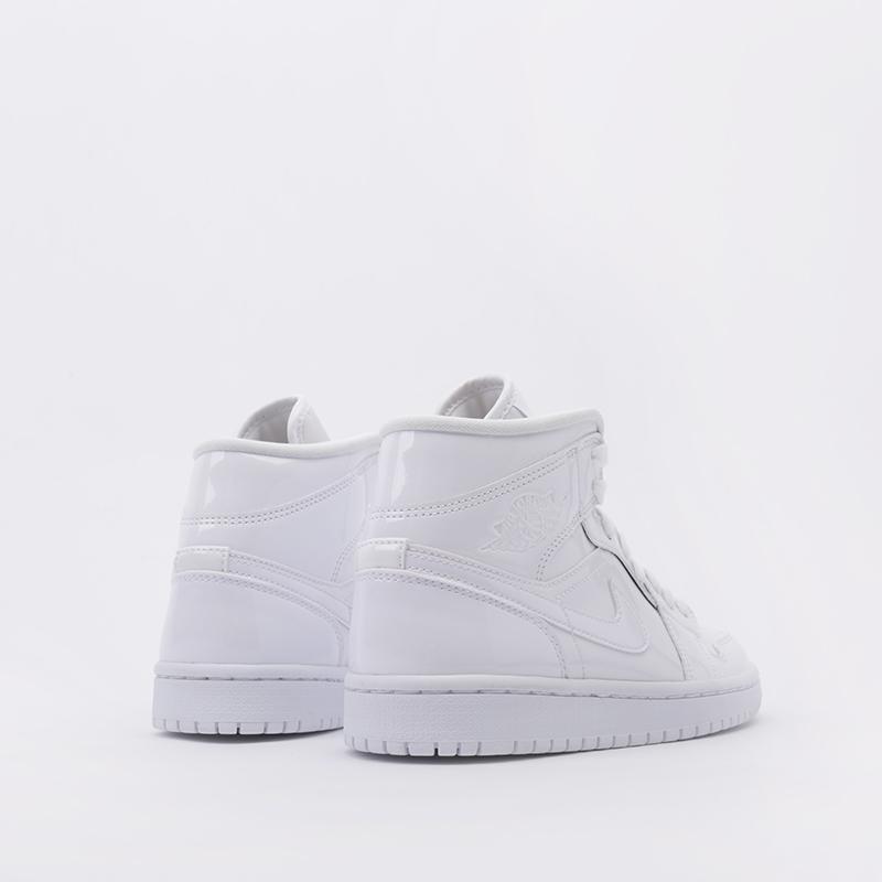 женские белые  кроссовки jordan wmns 1 mid BQ6472-111 - цена, описание, фото 4