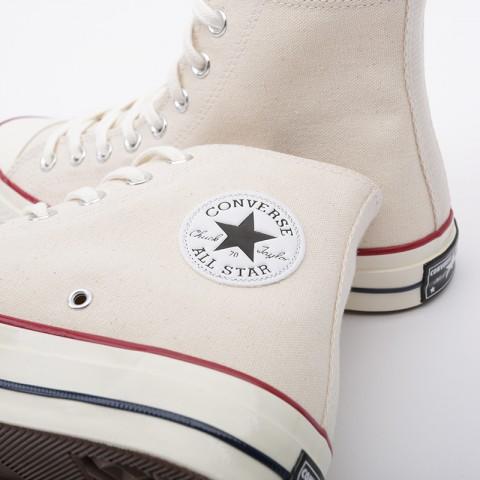 мужские бежевые  кроссовки converse chuck70 hi 162053 - цена, описание, фото 6