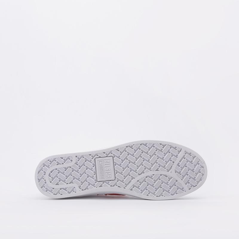 белые  кроссовки converse pro leather mid 168131 - цена, описание, фото 3
