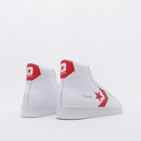 белые  кроссовки converse pro leather mid 168131 - цена, описание, фото 4