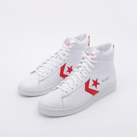 белые  кроссовки converse pro leather mid 168131 - цена, описание, фото 5
