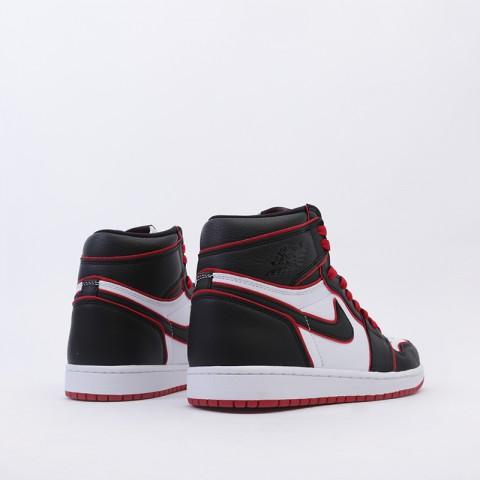 мужские чёрные, красные, белые  кроссовки jordan 1 retro high og 555088-062 - цена, описание, фото 3