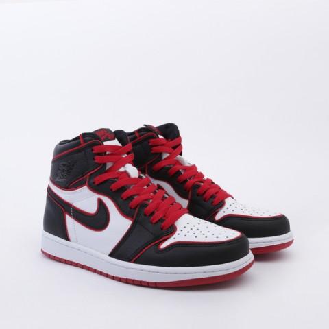 мужские чёрные, красные, белые  кроссовки jordan 1 retro high og 555088-062 - цена, описание, фото 2