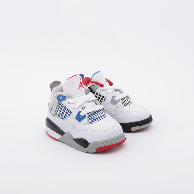детские белые  кроссовки jordan 4 retro (td) BQ7670-146 - цена, описание, фото 3