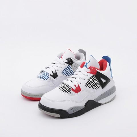 детские белые  кроссовки jordan 4 retro (ps) BQ7669-146 - цена, описание, фото 5