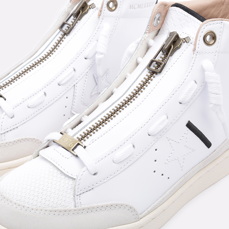 мужские бежевые  кроссовки converse pro leather mid 165744 - цена, описание, фото 6