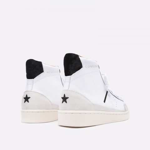 мужские бежевые  кроссовки converse pro leather mid 165744 - цена, описание, фото 4