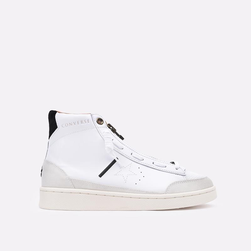 мужские бежевые  кроссовки converse pro leather mid 165744 - цена, описание, фото 1