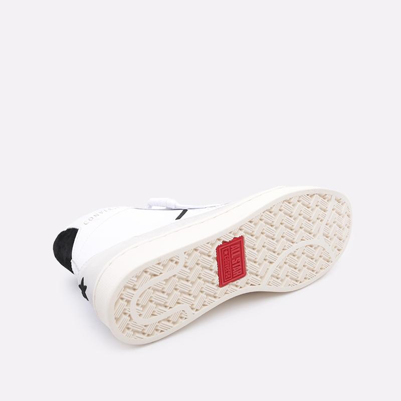 мужские бежевые  кроссовки converse pro leather mid 165744 - цена, описание, фото 3