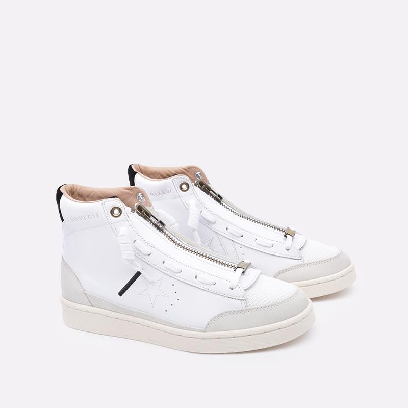 мужские бежевые  кроссовки converse pro leather mid 165744 - цена, описание, фото 2