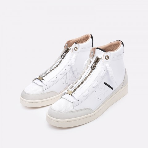 мужские бежевые  кроссовки converse pro leather mid 165744 - цена, описание, фото 5