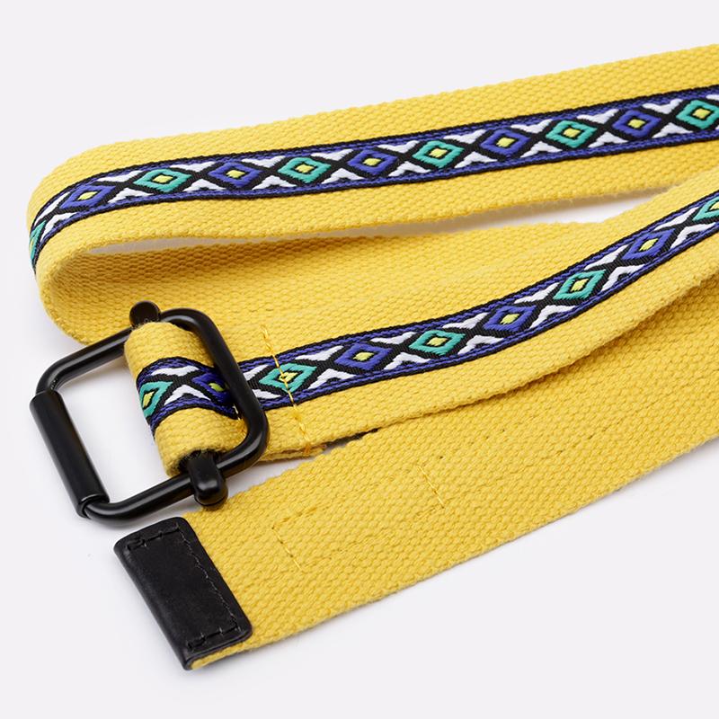 жёлтый  ремень stussy woven taped web 135161-mustard - цена, описание, фото 1