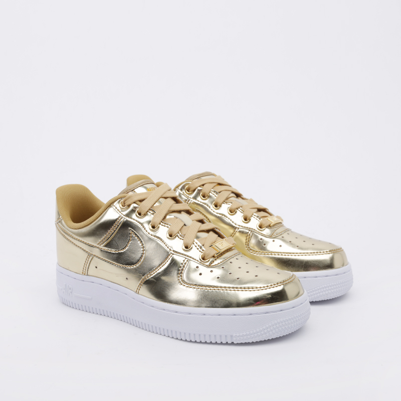женские золотые  кроссовки nike wmns air force 1 sp CQ6566-700 - цена, описание, фото 2