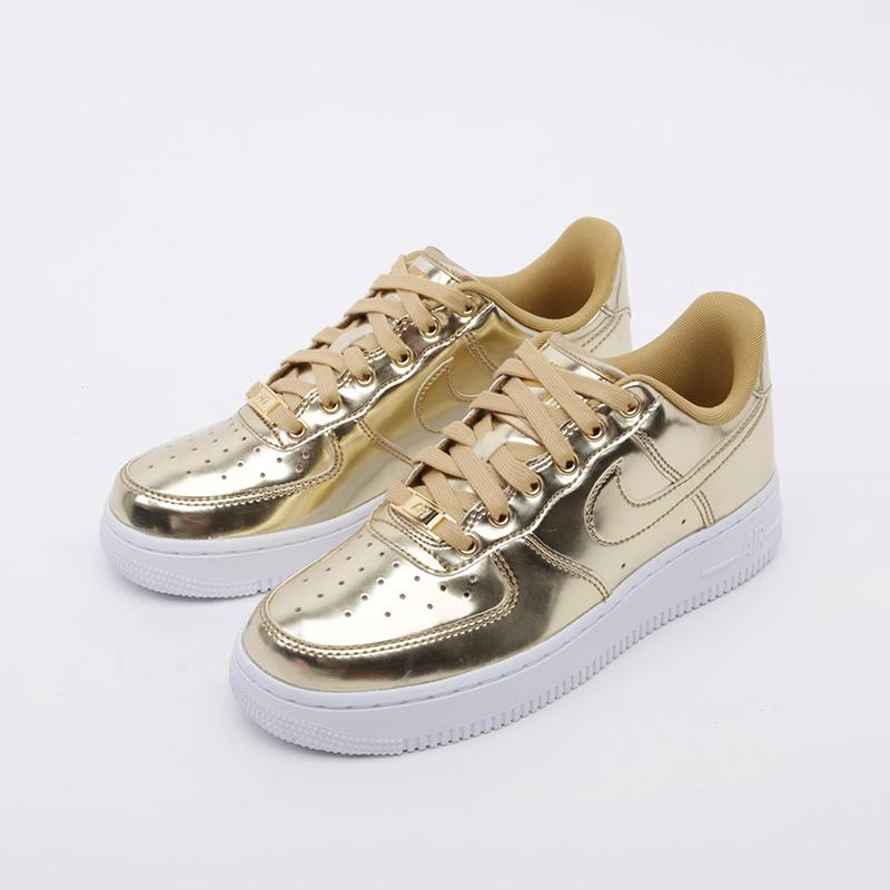 женские золотые  кроссовки nike wmns air force 1 sp CQ6566-700 - цена, описание, фото 5