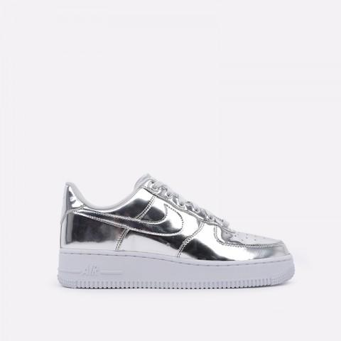 женские серебряные  кроссовки nike wmns air force 1 sp CQ6566-001 - цена, описание, фото 1