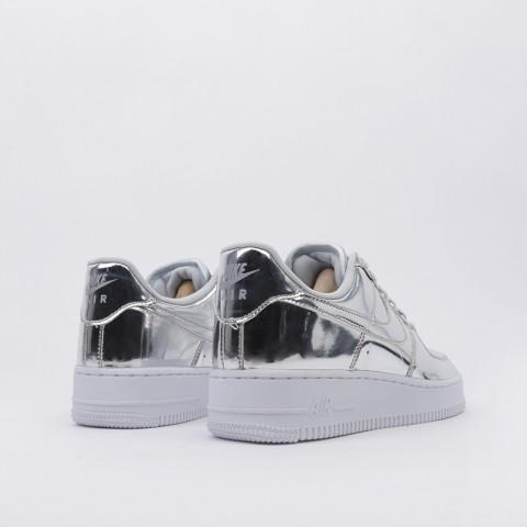 женские серебряные  кроссовки nike wmns air force 1 sp CQ6566-001 - цена, описание, фото 4