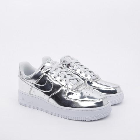женские серебряные  кроссовки nike wmns air force 1 sp CQ6566-001 - цена, описание, фото 2