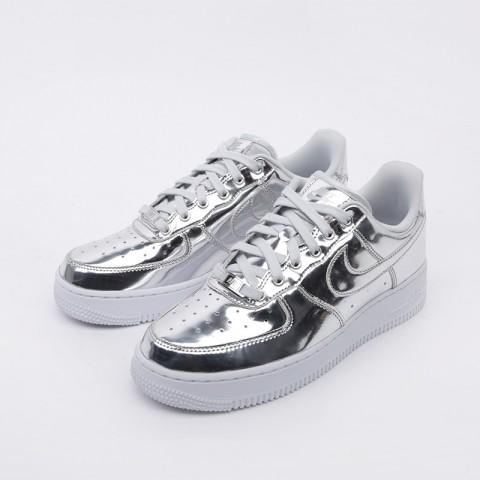 женские серебряные  кроссовки nike wmns air force 1 sp CQ6566-001 - цена, описание, фото 5
