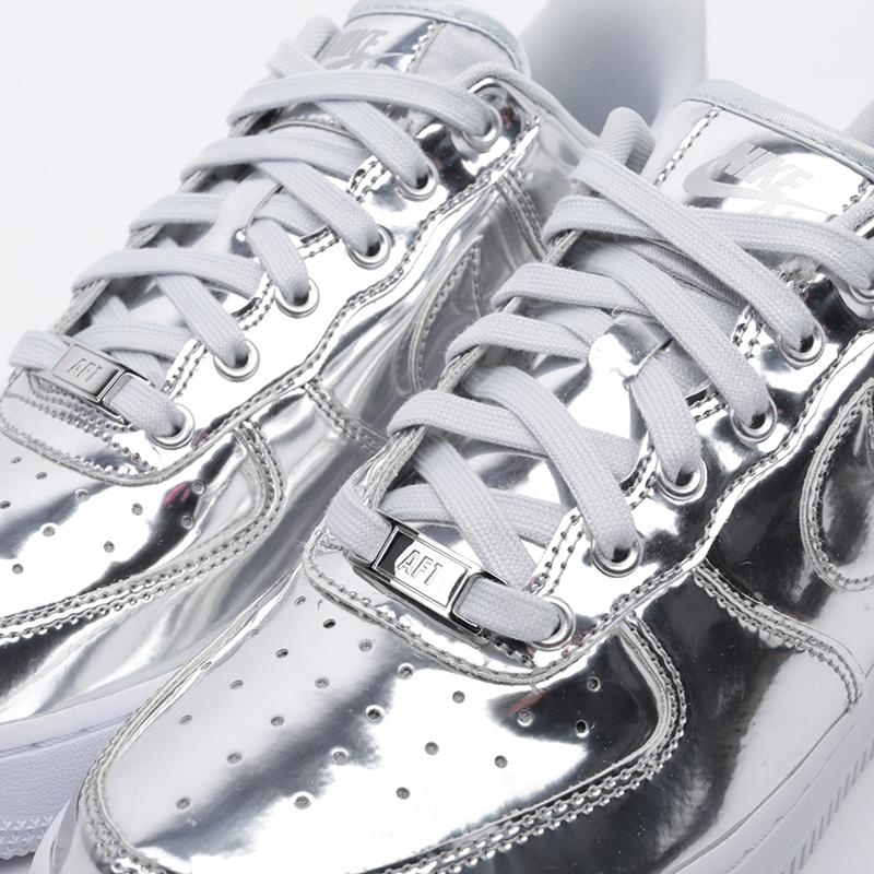 женские серебряные  кроссовки nike wmns air force 1 sp CQ6566-001 - цена, описание, фото 6
