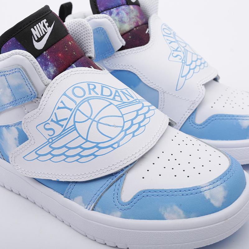 детские голубые  кроссовки jordan sky 1 fearless (ps) CT2477-400 - цена, описание, фото 5