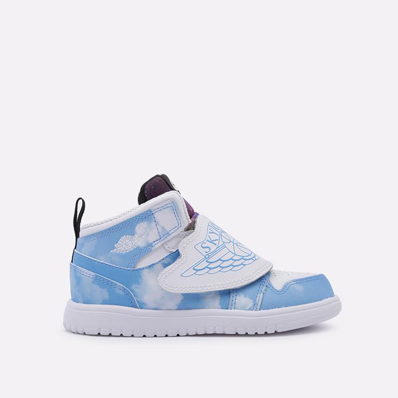 детские голубые  кроссовки jordan sky 1 fearless (td) CT2478-400 - цена, описание, фото 1