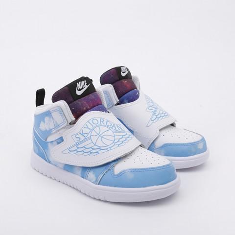 детские голубые  кроссовки jordan sky 1 fearless (td) CT2478-400 - цена, описание, фото 2
