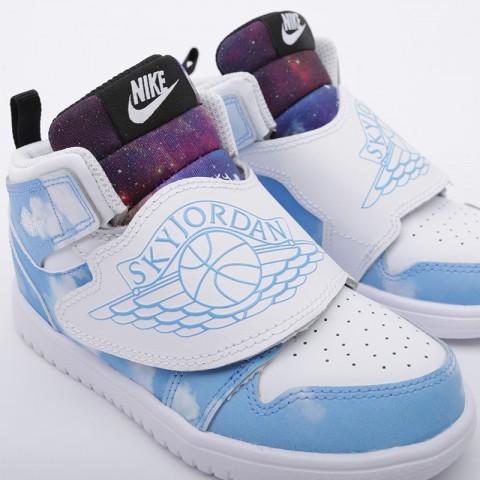 детские голубые  кроссовки jordan sky 1 fearless (td) CT2478-400 - цена, описание, фото 5