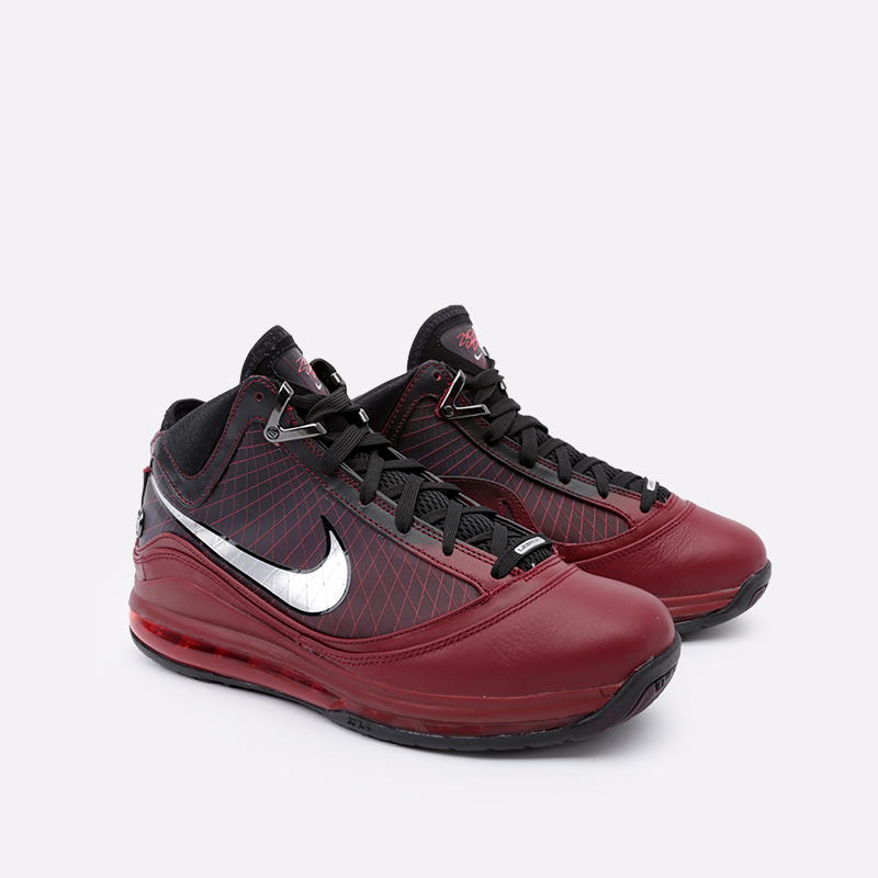 мужские бордовые  кроссовки nike lebron vii qs CU5133-600 - цена, описание, фото 2