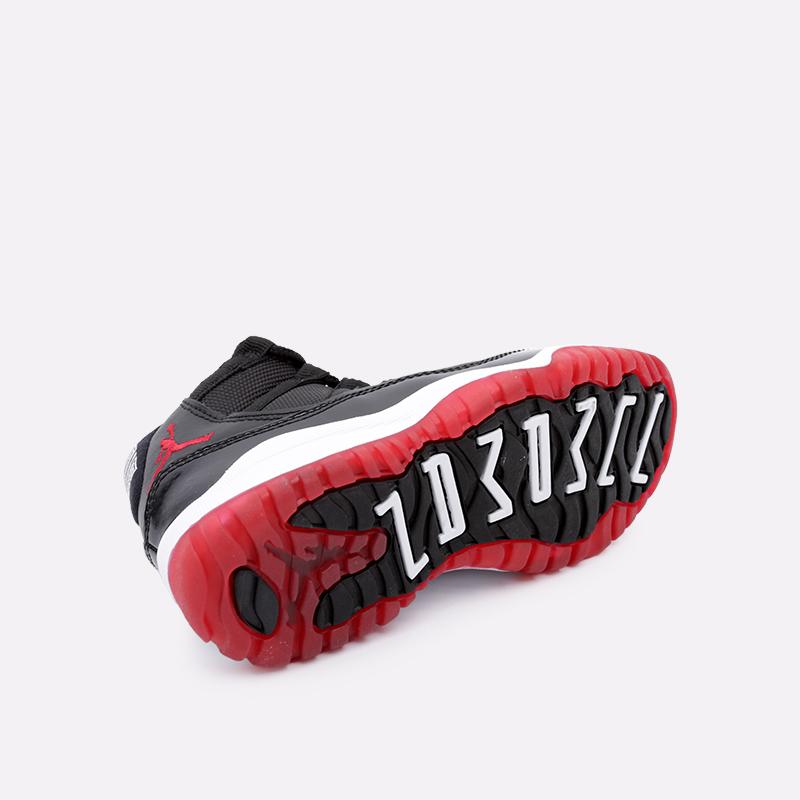 детские чёрные  кроссовки jordan 11 retro (ps) 378039-061 - цена, описание, фото 3