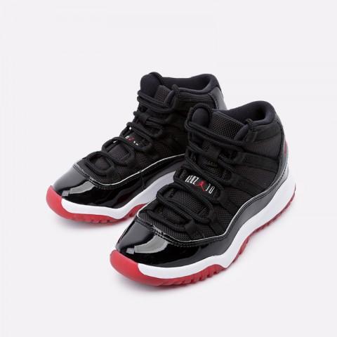 детские чёрные  кроссовки jordan 11 retro (ps) 378039-061 - цена, описание, фото 4