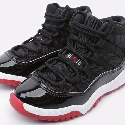 детские чёрные  кроссовки jordan 11 retro (ps) 378039-061 - цена, описание, фото 6