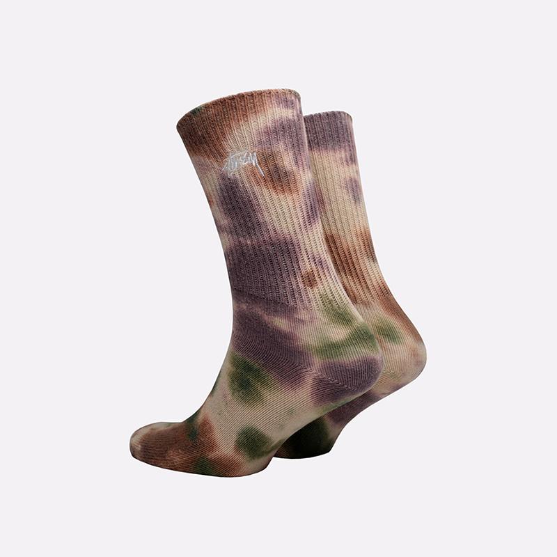 мужские разноцветные  носки stussy tie dye socks 138661-olive - цена, описание, фото 2