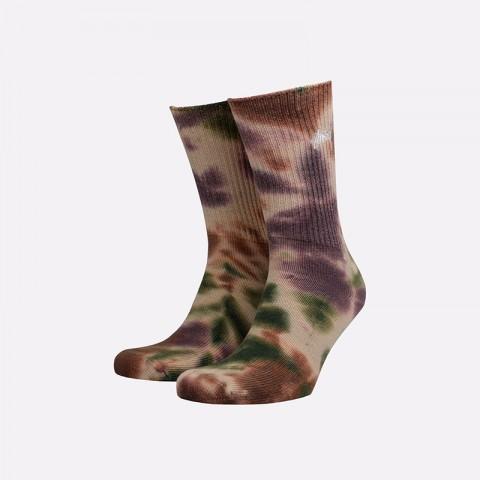 мужские разноцветные  носки stussy tie dye socks 138661-olive - цена, описание, фото 1