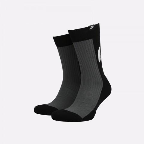 мужские чёрные  носки nike airmax crew SK0005-010 - цена, описание, фото 1