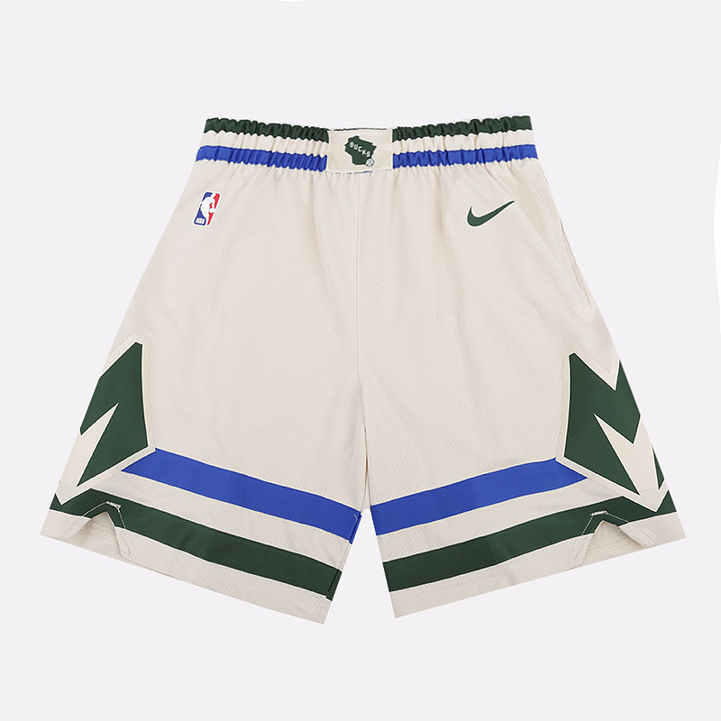 мужские бежевые  шорты nike cream city edition swingman shorts BV5876-280 - цена, описание, фото 1