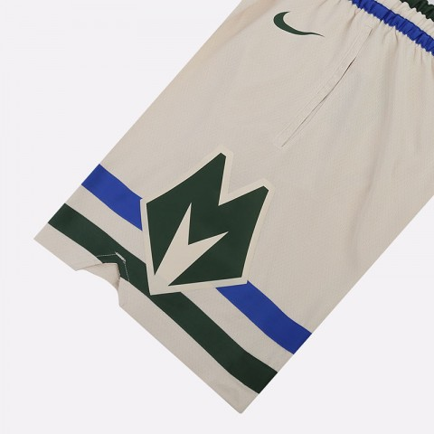 мужские бежевые  шорты nike cream city edition swingman shorts BV5876-280 - цена, описание, фото 2