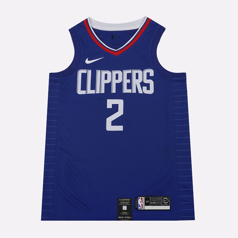 мужскую синюю  майку nike kawhi leonard clippers icon edition nba swingman 864481-406 - цена, описание, фото 1