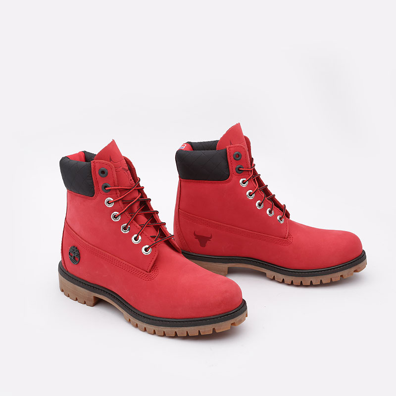 мужские красные  ботинки timberland chicago bulls nba TBLA2856W - цена, описание, фото 1