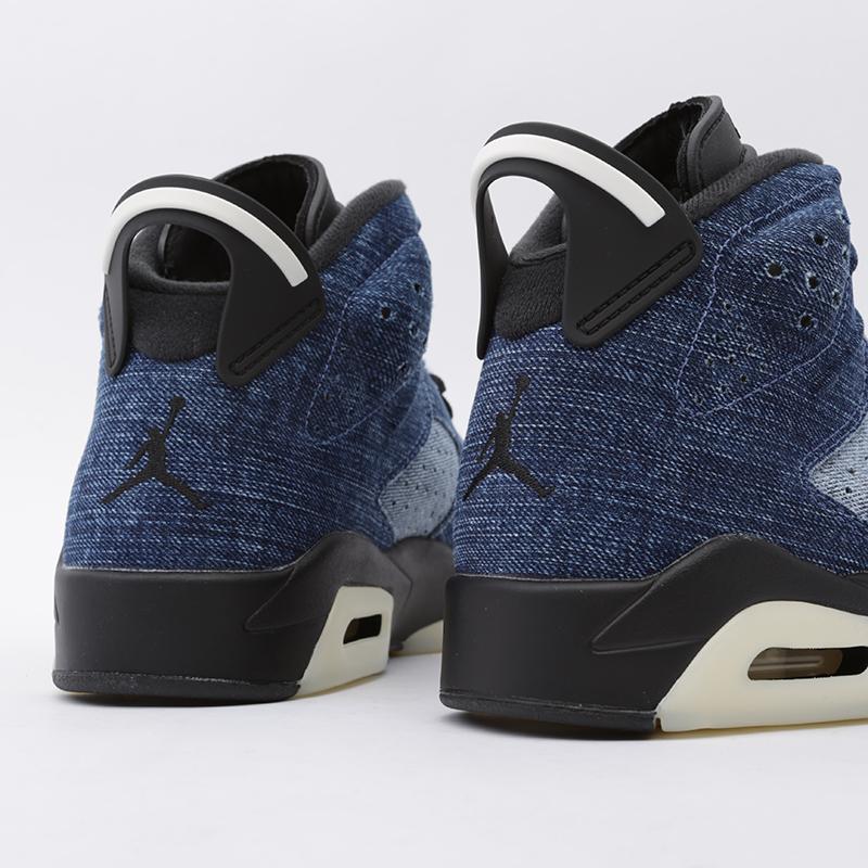 мужские синие  кроссовки jordan 6 retro CT5350-401 - цена, описание, фото 5