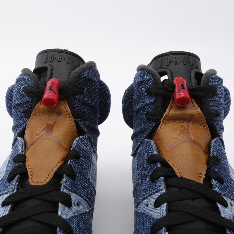 мужские синие  кроссовки jordan 6 retro CT5350-401 - цена, описание, фото 6