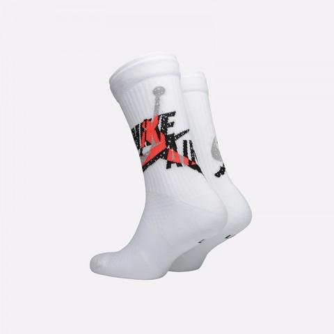 мужские белые  носки jordan legacy crew CU2956-100 - цена, описание, фото 2