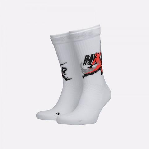 мужские белые  носки jordan legacy crew CU2956-100 - цена, описание, фото 1