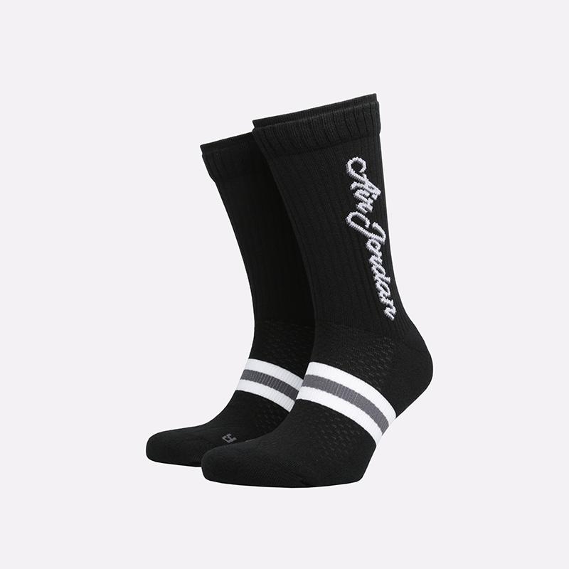 мужские чёрные  носки jordan legacy crew SK0024-010 - цена, описание, фото 1