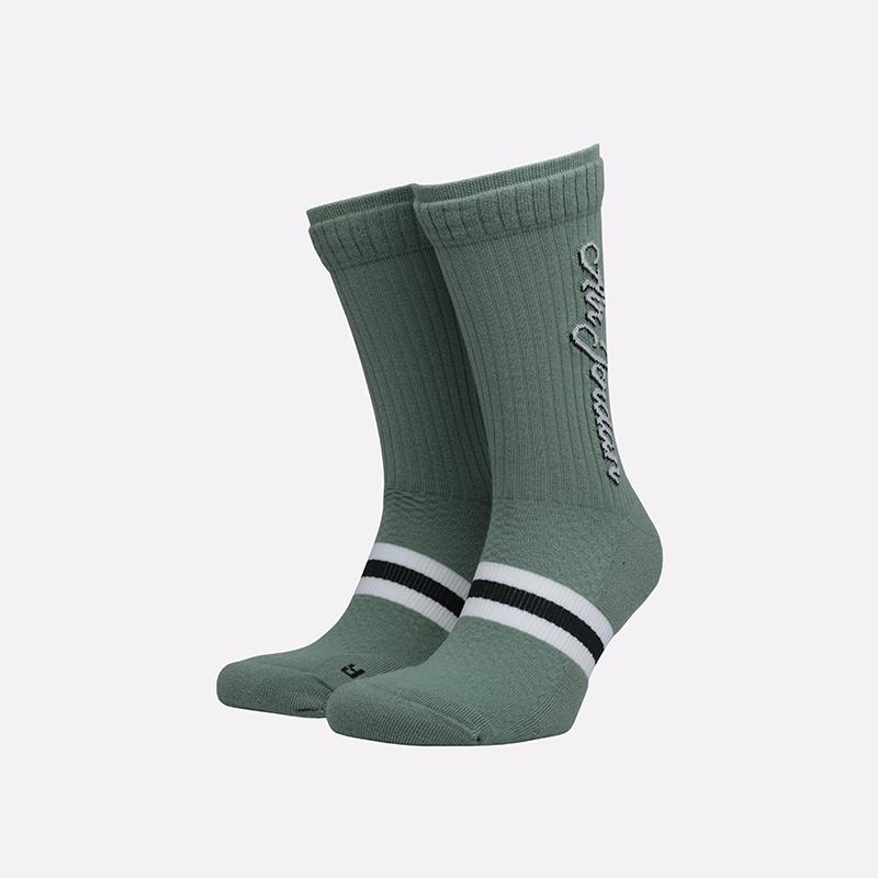 мужские зелёные  носки jordan legacy crew SK0024-352 - цена, описание, фото 1