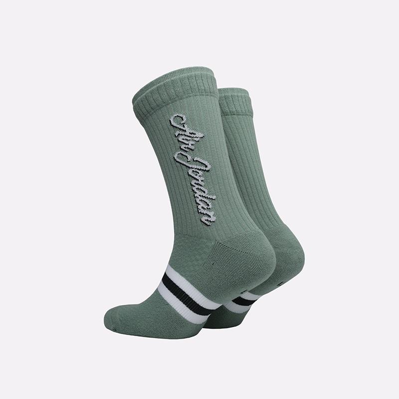 мужские зелёные  носки jordan legacy crew SK0024-352 - цена, описание, фото 2