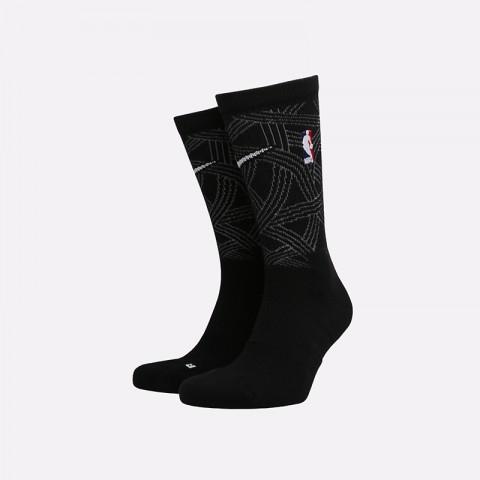 мужские чёрные  носки nike elite crew SX7875-010 - цена, описание, фото 1
