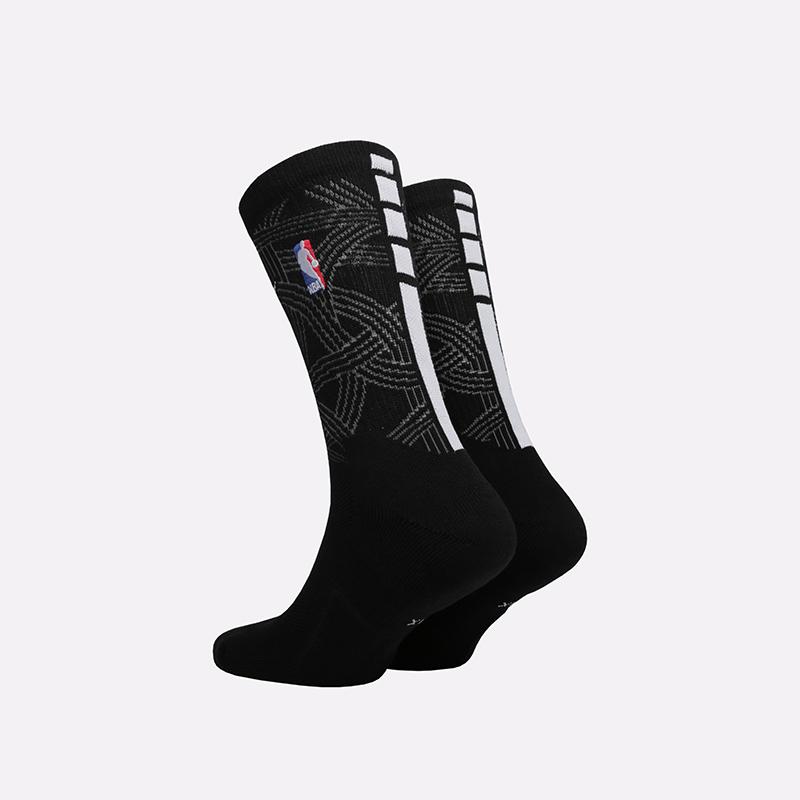 мужские чёрные  носки nike elite crew SX7875-010 - цена, описание, фото 2
