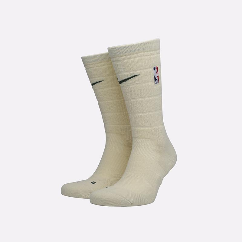 мужские бежевые  носки nike elite crew SX7882-280 - цена, описание, фото 1