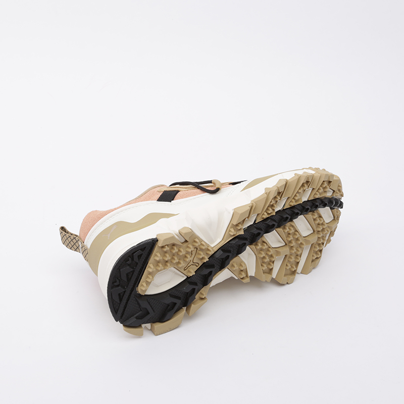 бежевые, розовые  кроссовки puma trailfox overland pg 37147501 - цена, описание, фото 3