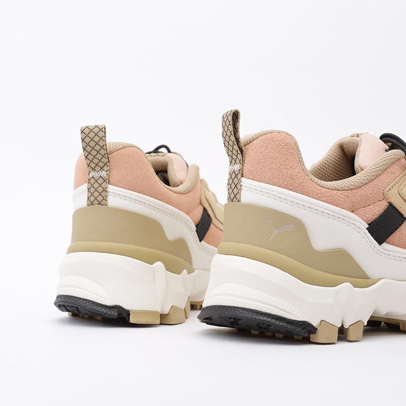 бежевые, розовые  кроссовки puma trailfox overland pg 37147501 - цена, описание, фото 4